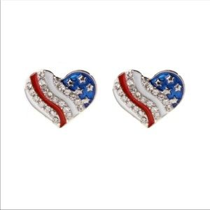 Jewelry - Patriotic Heart Earrings
